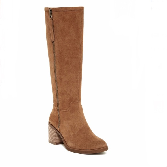 7cec14791eca Lucky Brand Shoes - NWOT Lucky Brand Suede Tan Resper Knee High Boot 8